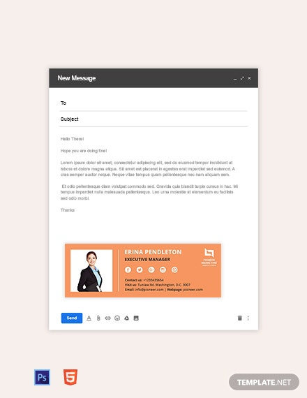 Marketing Agency Email Signature Template
