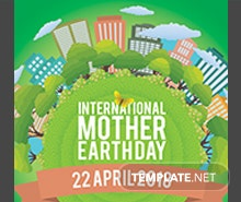 Free International Earth Day Facebook Profile Photo Template