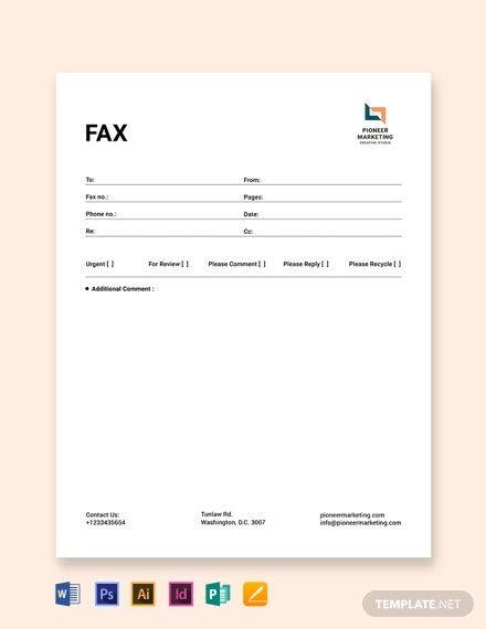 Marketing Agency Fax Paper Template