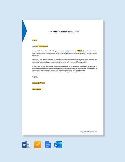 Free Patient Termination Letter