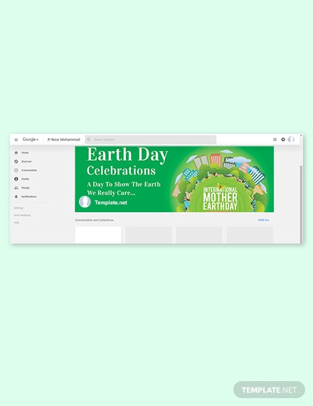 International Earth Day Google Plus Cover Template