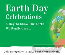 Free International Earth Day Google Plus Cover Template