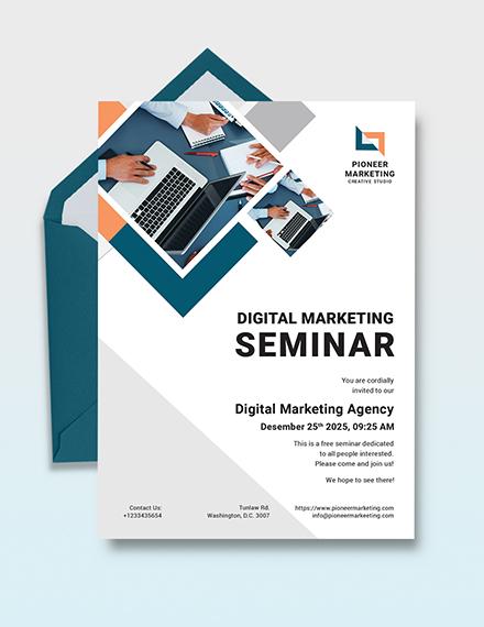 Marketing Agency Invitation Template