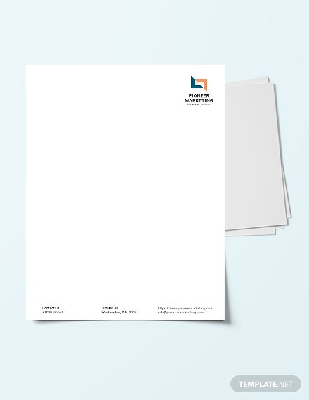 Marketing Agency Letter Head Template