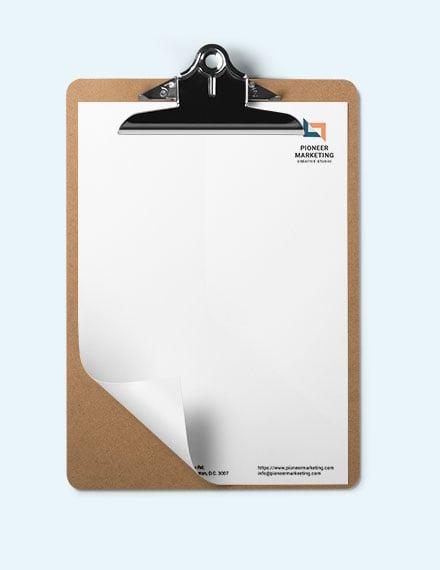 Editable Marketing Agency Letter Head Template