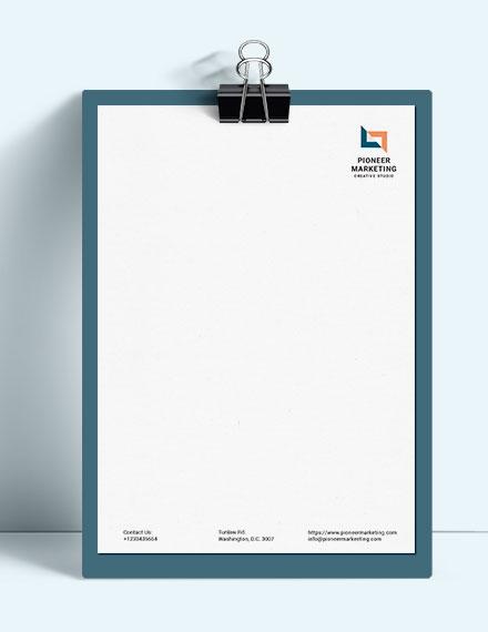 Marketing Agency Letter Head Template