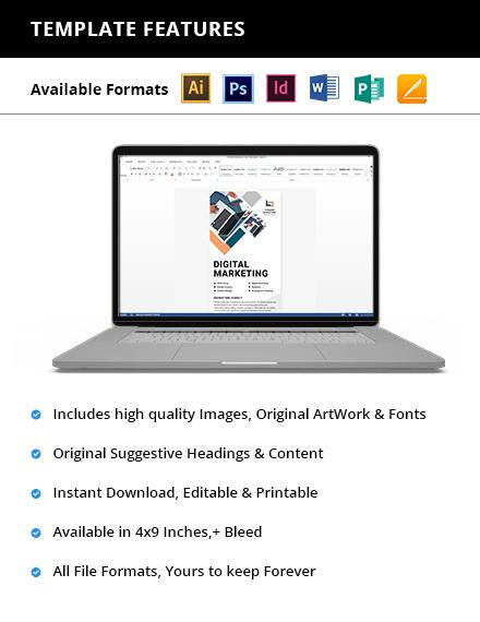 Marketing Agency Rack Card Printable