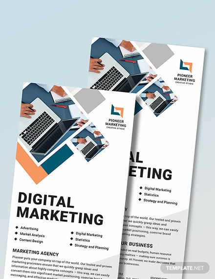 Sample Marketing Agency Rack Card