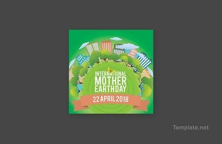 Free International Earth Day Google Plus Header Photo Template