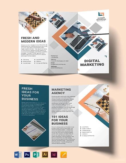Marketing Agency Tri-Fold Brochure Template