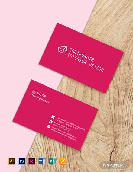 Simple Interior Designer Business Card Template