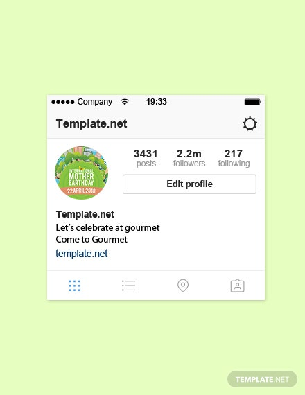Free International Earth Day Instagram Profile Photo Template