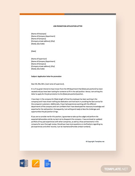 Job-Promotion-Application-letter Teacher Reference Letter Template Editable on personal job, legal character, for coworker, for nursing professional, nursing school, for former employee, sample business,