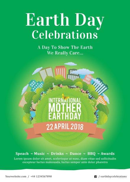 Free International Earth Day Invitation Template