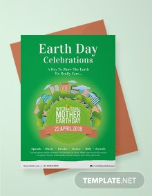 Free International Earth Day Invitation Template
