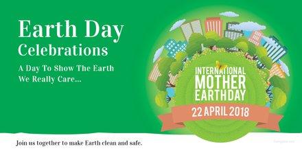 Free International Earth Day LinkedIn Company Cover Template
