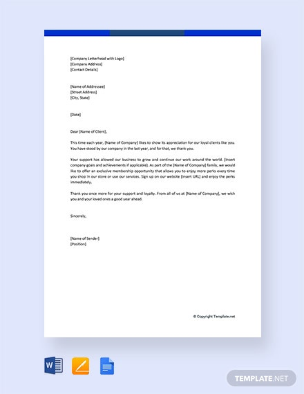 Free Business Thank You Letter To Clients