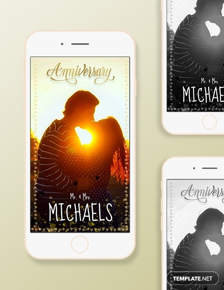 anniversary snapchat geofilters template in adobe photoshop
