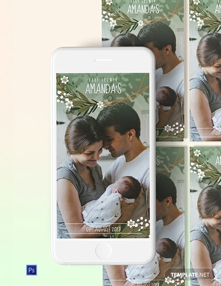 Baby Shower Snapchat Geofilters Template