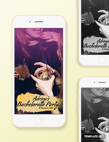 Bachelorette Snapchat Geofilters Template