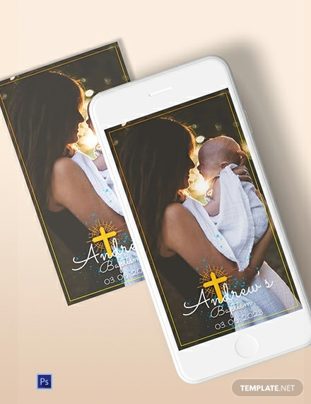 Baptism Snapchat Geofilters Template