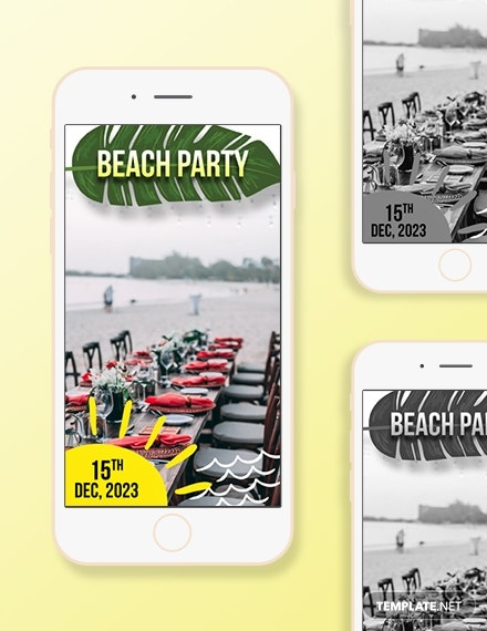 Beach Party Snapchat Geofilters Template
