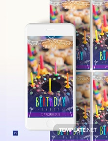 Birthday Party Snapchat Geofilters Template