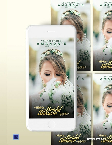 Bridal Shower Snapchat Geofilters Template