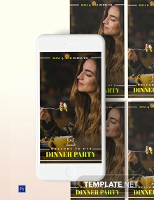 Dinner Party Snapchat Geofilters Template