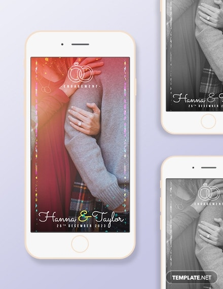 Engagement Snapchat Geofilters Template