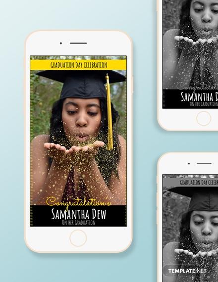 Graduation Snapchat Geofilters Template