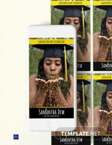 Graduation Snapchat Geofilters Template