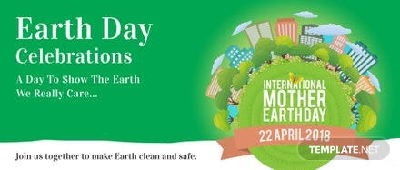 Free International Earth Day LinkedIn Profile Banner Template