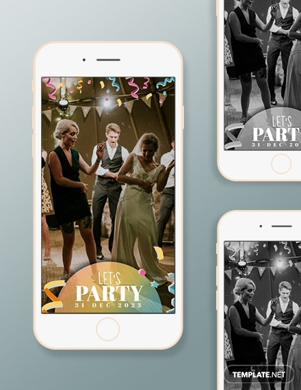 Party Snapchat Geofilters Template