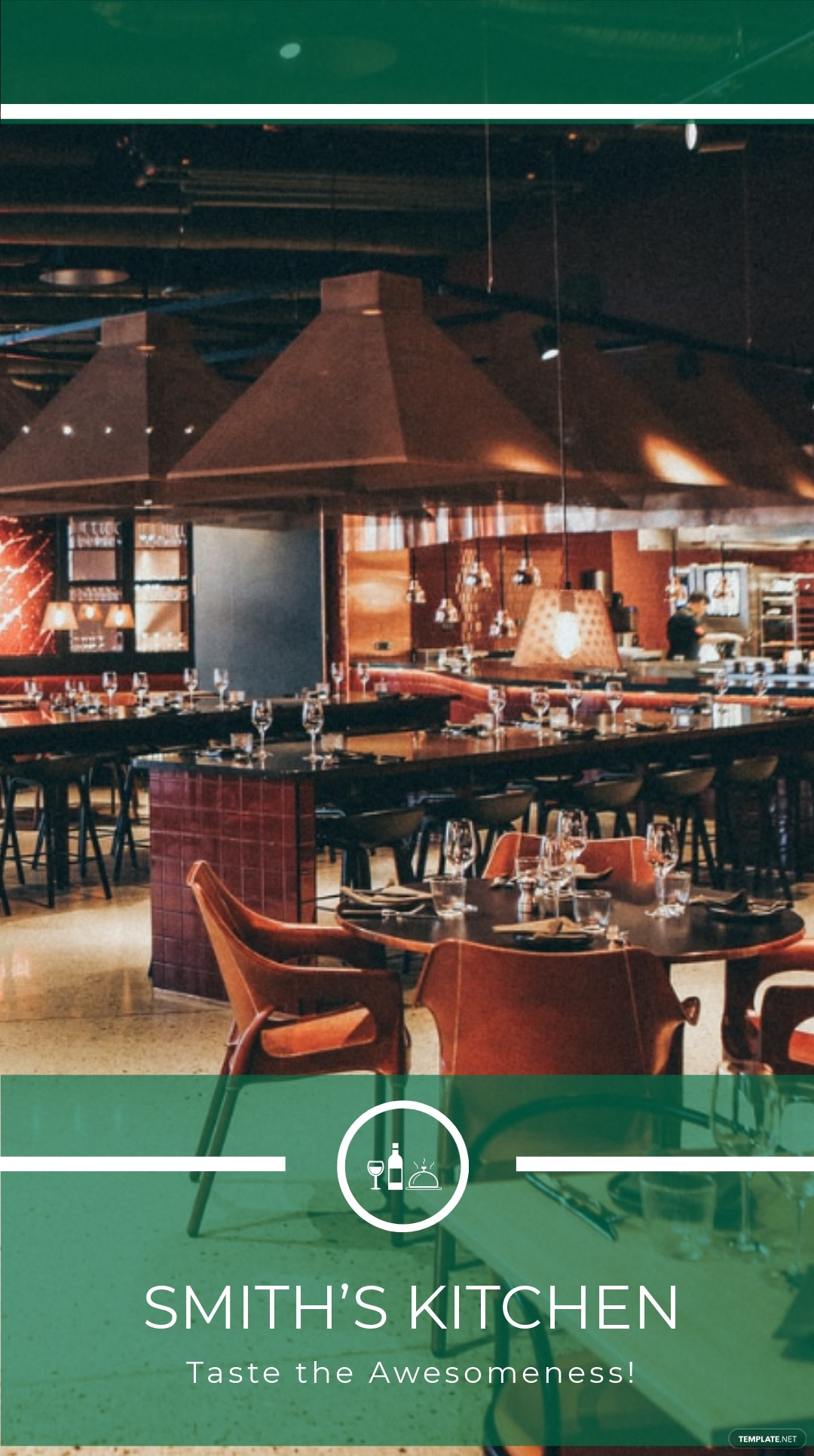 Restaurant Snapchat Geofilters Template
