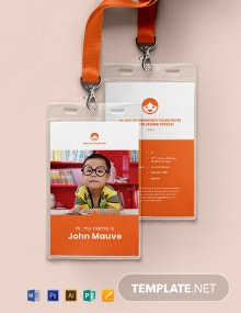 Daycare Identity Card Template