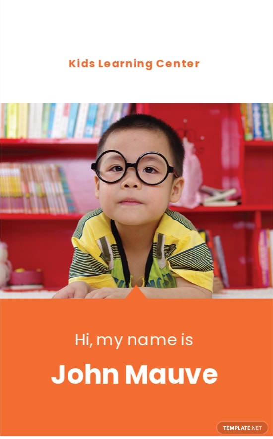 Daycare Identity Card Template.jpe