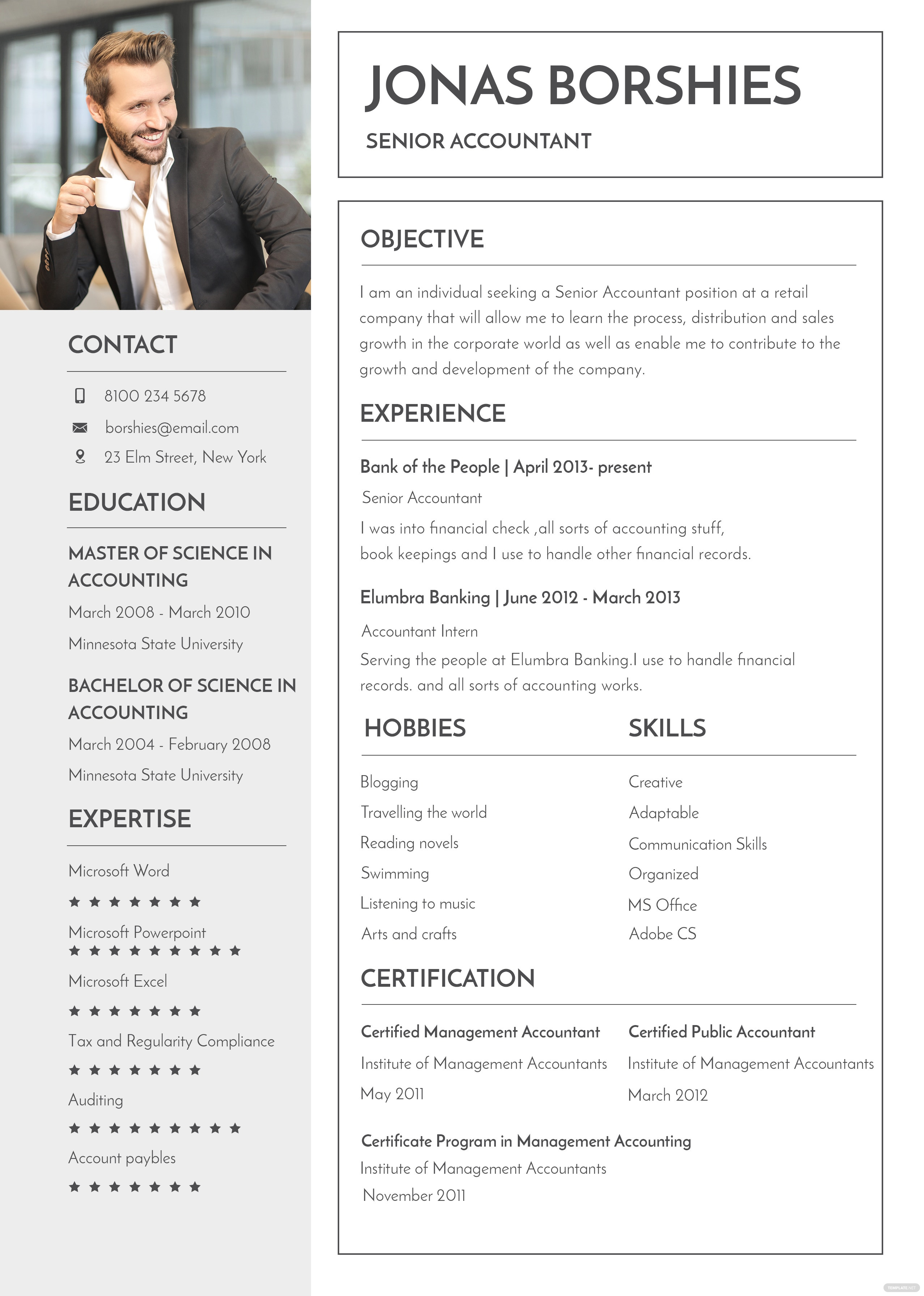 free professional banking resume and cv template in psd  ms word  publisher  illustrator