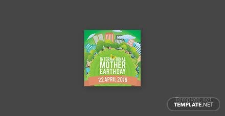 Free International Earth Day Pinterest Profile Photo Template