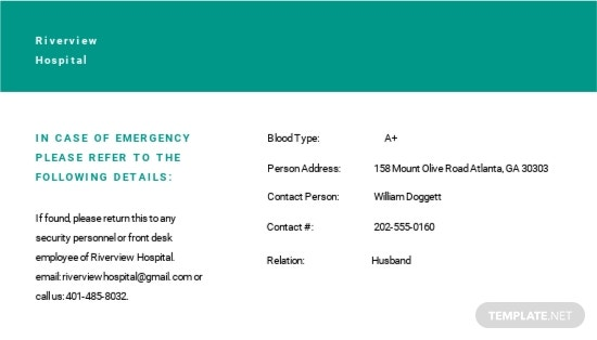 Hospital ID Card Template 1.jpe