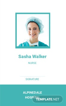 Hospital Staff ID Card Template
