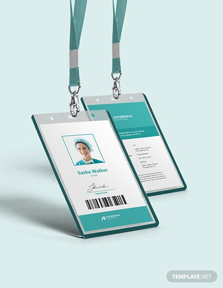 Hospital Staff Id Card Template