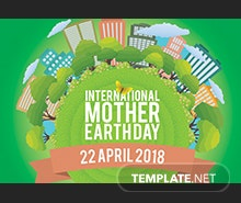 Free International Earth Day Pinterest Board Cover Template