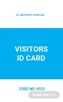 Hospital Visitor ID Card Template