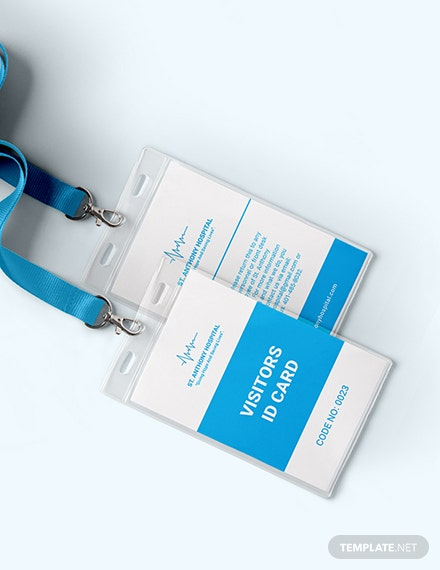 Hospital Visitor ID Card Download