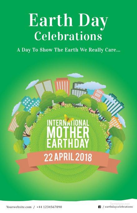 Free International Earth Day Pinterest Pin Template