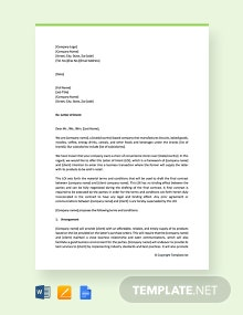 Free Letter of Intent to Do Business with the Company