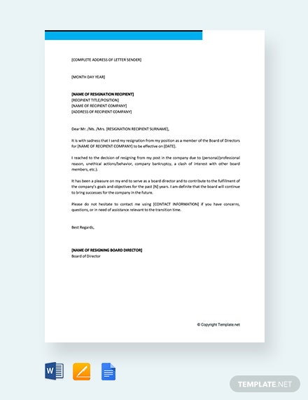 114 free resignation letter templates download ready made