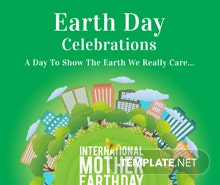 Free International Earth Day Poster Template