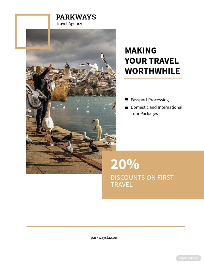 Modern Travel Flyer Template